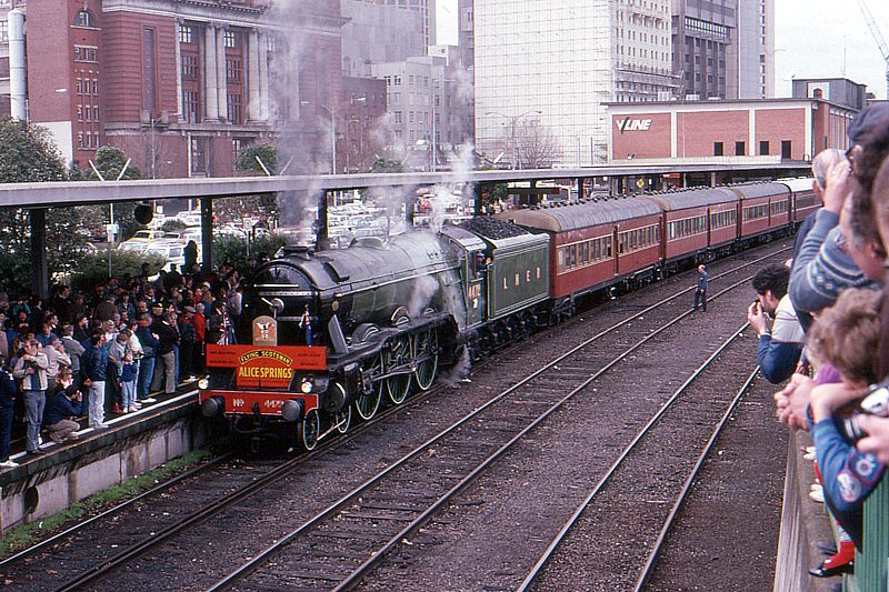 4472 Flying Scotsman at Spencer Street, Melbourne by Bingley Hall