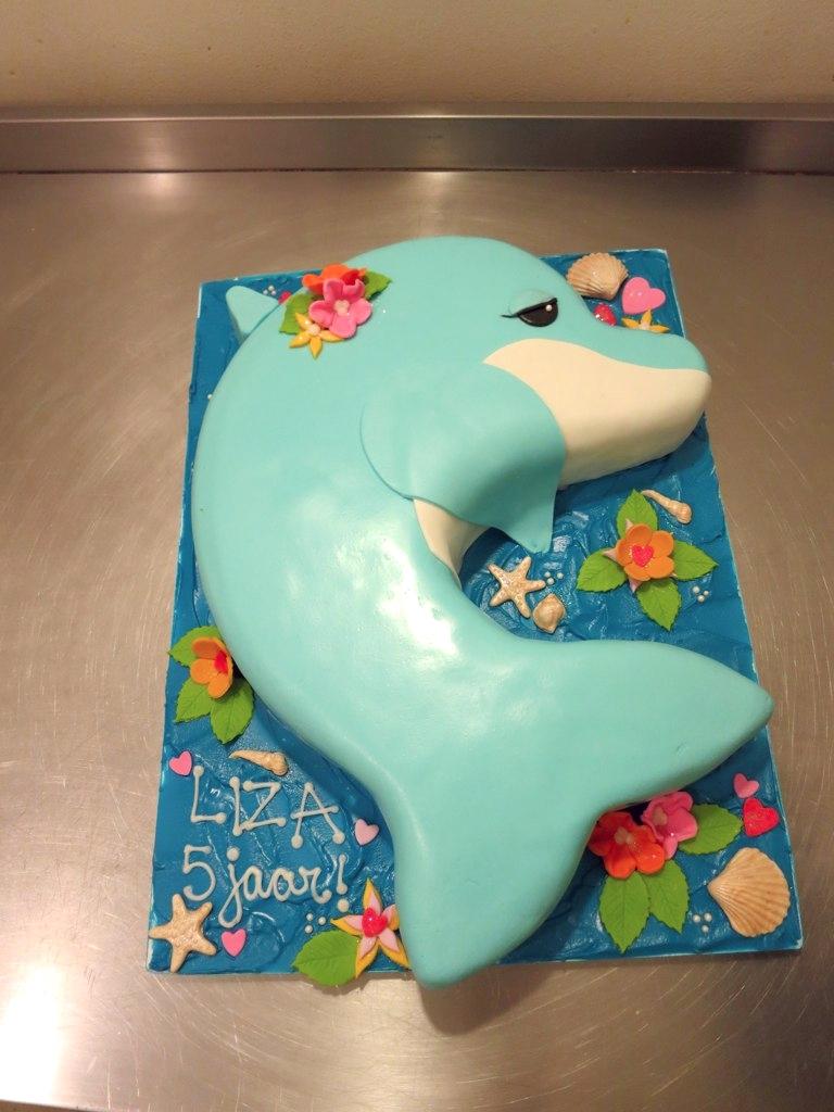 Terrific Dolphin Cake Dolphin Birthday Cake Flavor Vanilla Cake Flickr Funny Birthday Cards Online Alyptdamsfinfo