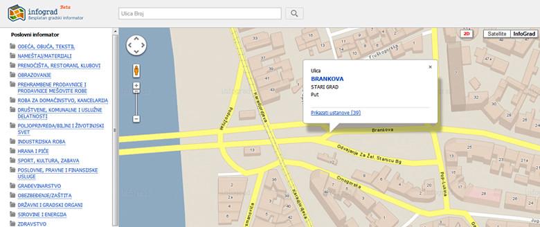 Mapa Beograda S Firmama Interaktivna Mapa Beograda Novi P Flickr