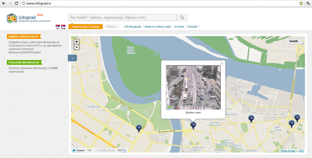 Mapa Grada Beograda Mapa Ulica Beograd Www Infograd Rs