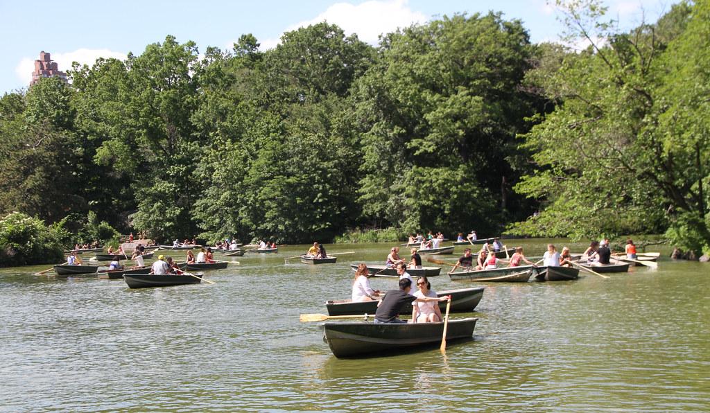 Sunday Boating Lake Central Park