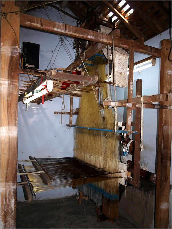 Kanchipurum silk weaving loom