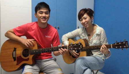 Adult guitar lessons Singapore Sammi