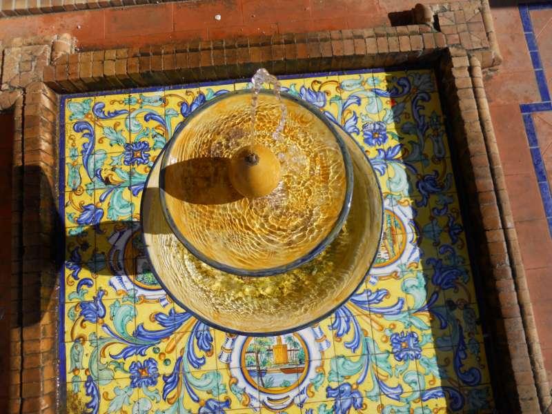 Fuente decorativa Pza. España Sevilla 5