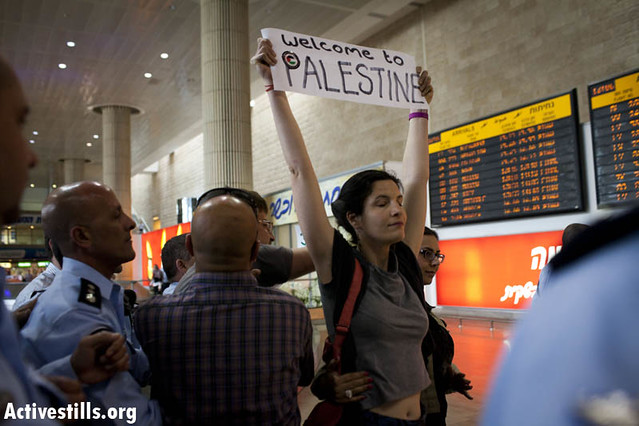 Pro-Palestinian fly-in to Ben Gurion airport, Israel  15.4.2012