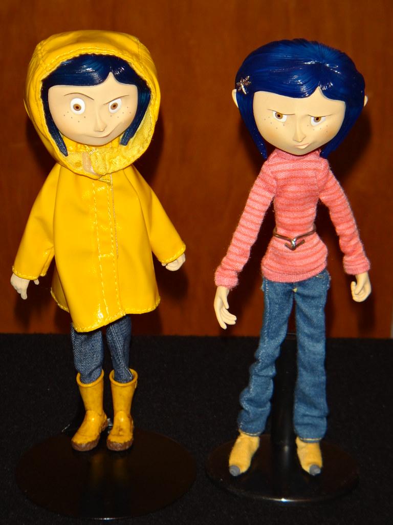 Neca Raincoat And Sweater Coraline Bendy Dolls Deboxed Flickr