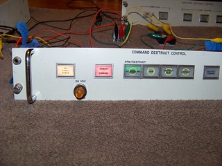 Command destruct control panel