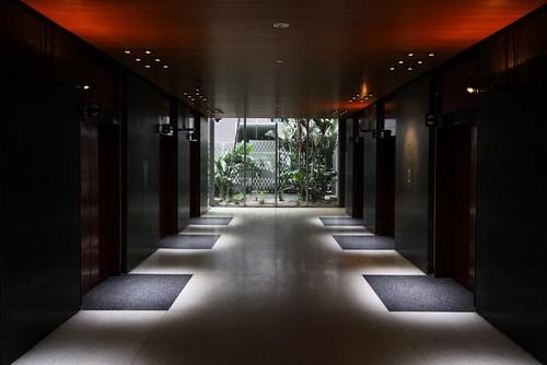 Ground floor lift lobby of ICI House, Melbourne
