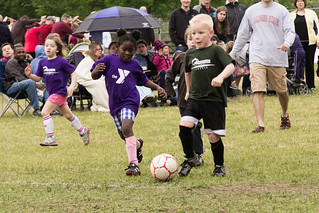 Girl and Boy Youth Soccer Game Grand Rapids Parks and Rec May 12, 2012 12 | by stevendepolo