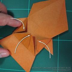 วิธีพับกระดาษเป็นรูปหมี (Origami Bear) 025