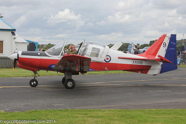 G-BZME - 1975 build Scottish Aviation Bulldog T.1, at Halfpenny Green during the Autumn 2014 Wings & Wheels event