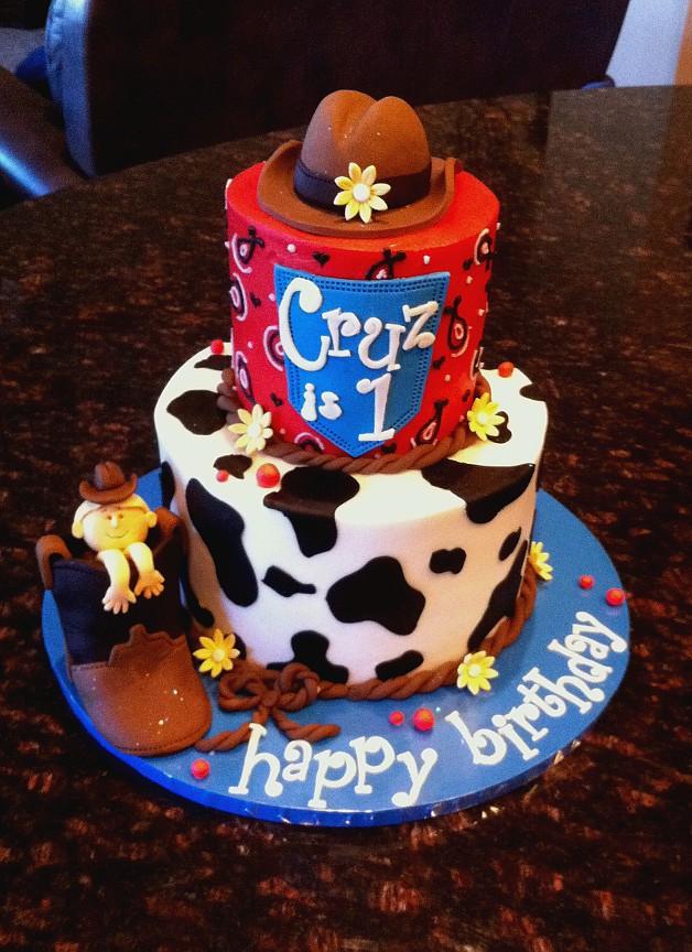 Super Cowboy Birthday Cake I Madet His One For A Sweet Peanut Tu Flickr Funny Birthday Cards Online Alyptdamsfinfo