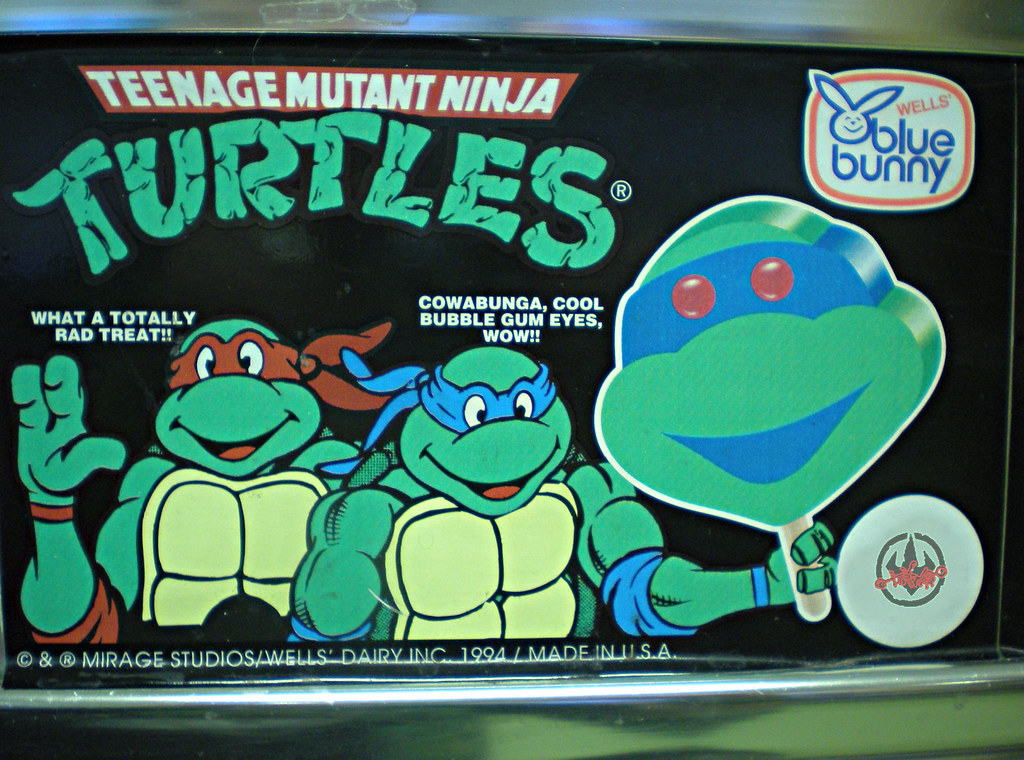 Blue Bunny :: Teenage Mutant Ninja Turtle 'Face' Bars - vendor sticker i (( 1994 )) by tOkKa