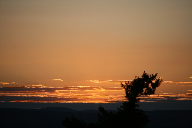 Sunset from Mohonk Lodge