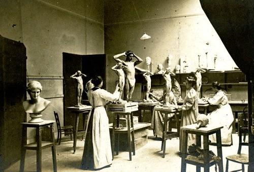 Sculpture class