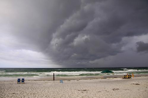 ocean storm beach rain clouds day waves cloudsstormssunsetssunrises