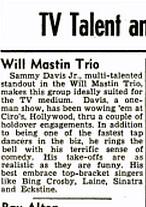Sammy at Ciro's Billboard May 5, 1951   by richardschave