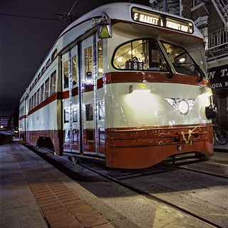Detroit PCC Car #1079 Getting Ready to Leave 17th & Market Station (SF MUNI)