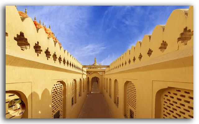 Corridors at Hawa Mahal Palace (Palace of Winds), Jaipur, Rajasthan