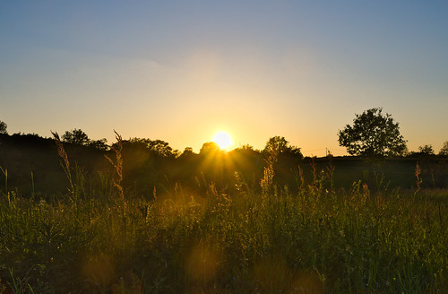 sunset sky nature landscape