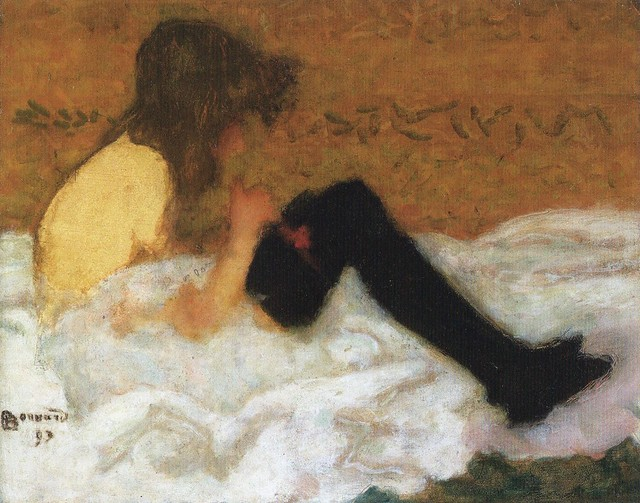 [ B ] Pierre Bonnard - Le jeune fille aux bas noirs (1893) for *Huismus