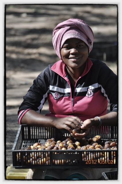 Nama woman at the Date Farm