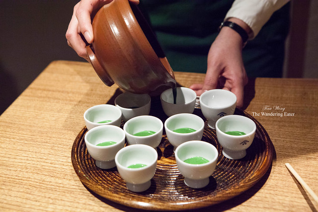 Pouring the koicha for serving