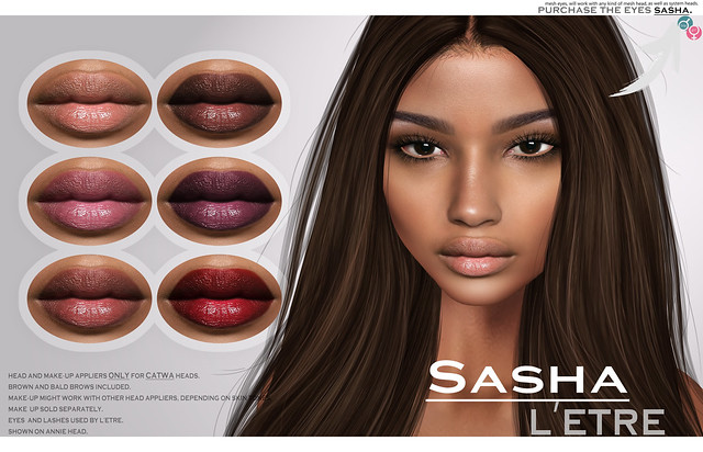 Sasha skin, make-up and eyes available now @L'Etre
