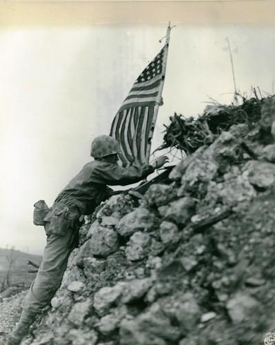 Flag Raising, Shuri Castle, Okinawa, 1 June 1945 | by Archives Branch, USMC History Division