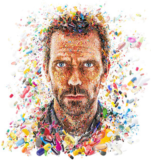 Hugh Laurie: The House ...of pills (for TV Guide) | by tsevis