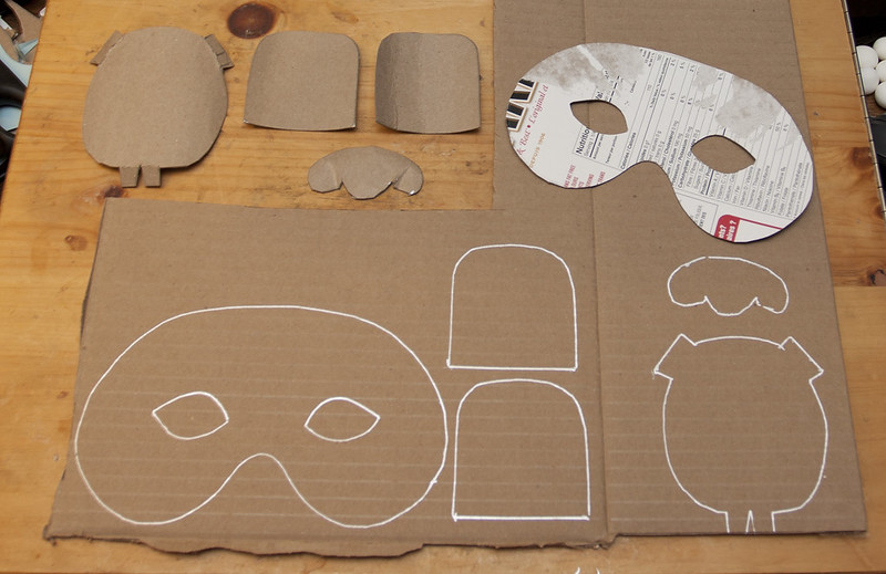 TransferringYour Mask Templates Onto Cardboard