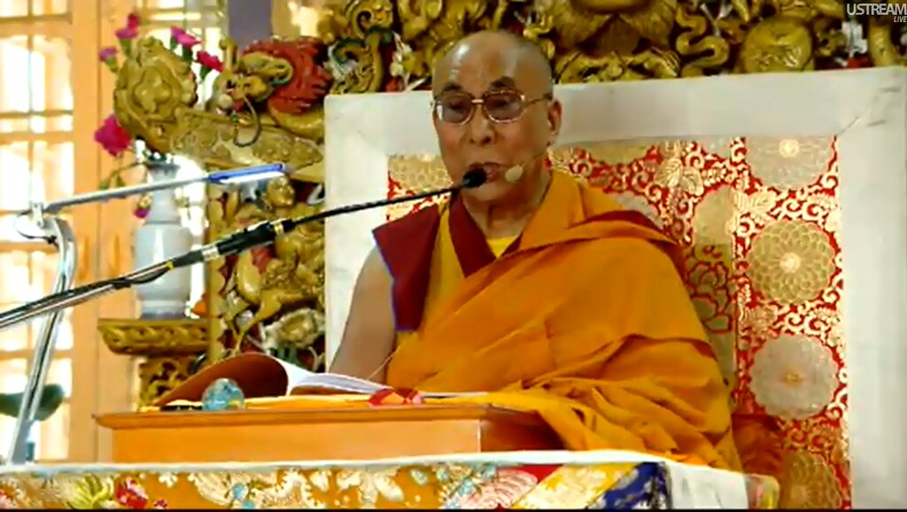 On attaining the levels of a bodhisattva, His Holiness the