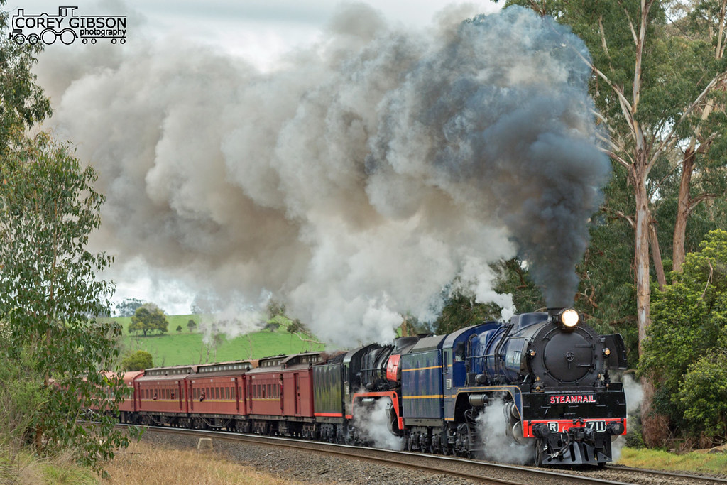 Steamrail Snow Train at Longwarry bank by Corey Gibson