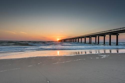 ocean color sunrise nikon ducknorthcarolina nikond810 140240mmf28 researchpier