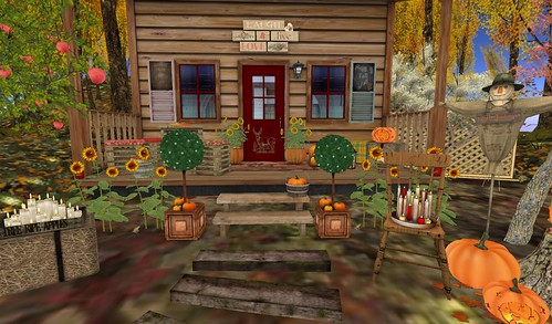 Dreamscapes Art Gallery-Autumn Front Steps   by Hidden Gems in Second Life (Interior Designer)