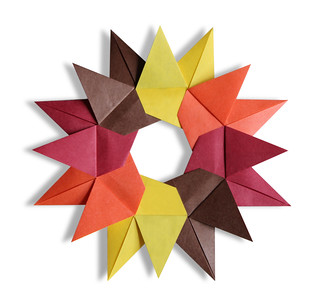 Origami Star from 8 Bird Bases (Christiane Bettens) | by EZ Origami