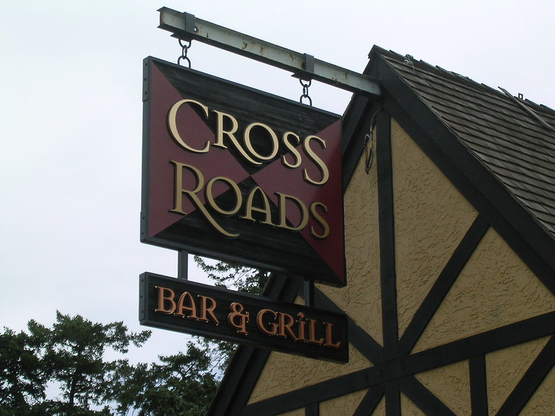 Cross Roads Bar and Grill  panel and projecting
