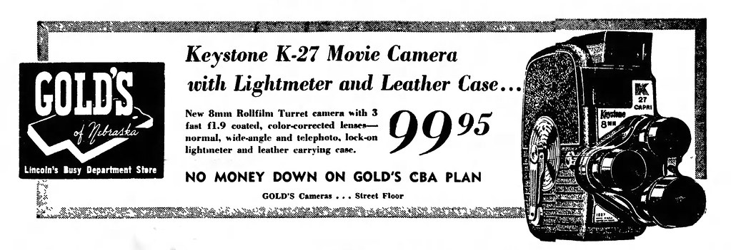 Vintage Newspaper Advertising For The Keystone 8mm Turret … | Flickr
