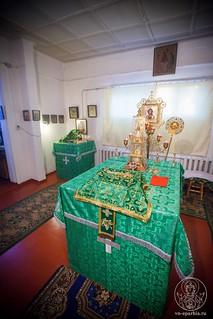 Литургия в в селе Рогавка 155