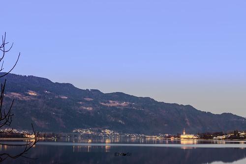 ossiach ossiachersee lakeossiach sunset sonnenuntergang spiegelung reflection see lake stiftossiach carinthia kärnten austria österreich nikond800