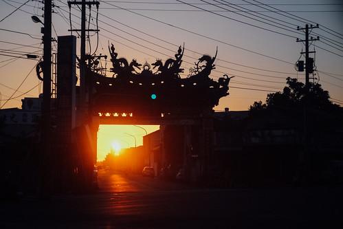 fujifilm xe1 chiayi 嘉義 台灣 taiwan contax g45 45mm f20 sunset 夕陽 日落 黃昏 dusk