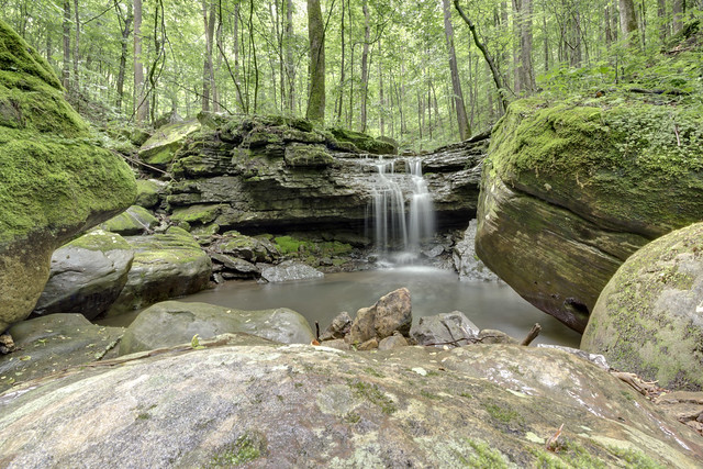 Twofer Falls, Scott Branch, Overton County, Tennessee 2