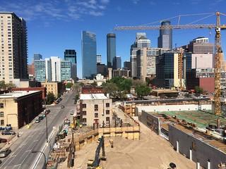 3 projects Elliot Park Minneapolis skyline 5-15-16 | by bapster2006