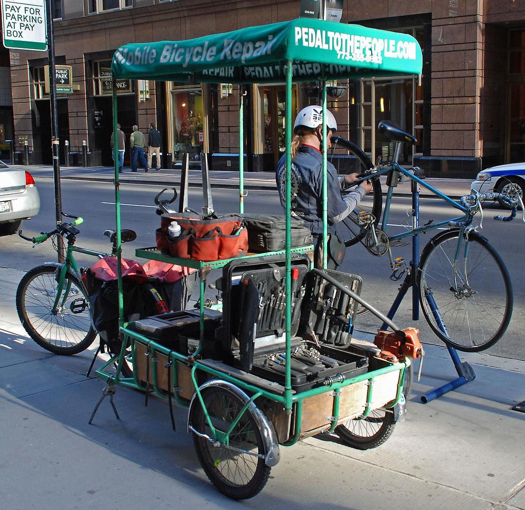 Adam's mobile bicycle repair shop | Irina Hynes | Flickr