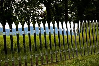 Storm King Art Center-Alyson Shotz - Mirror fence   by Erik Anestad