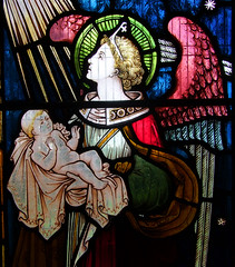 angel of death holding a baby
