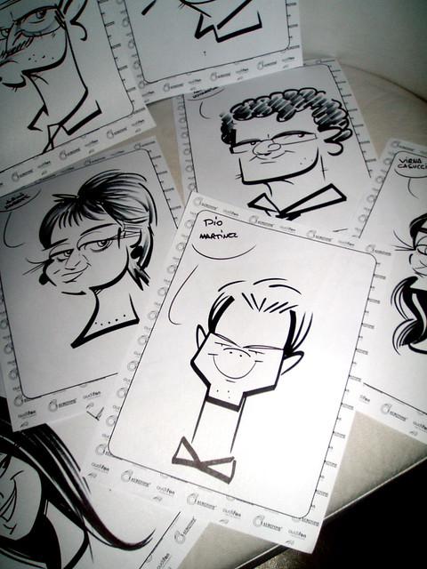 souvenirs caricaturas en fiestas