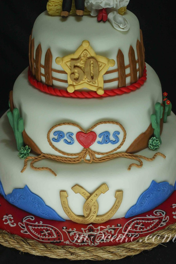50th Wedding Anniversary Western Cowboy Cake Carrot Cake Flickr
