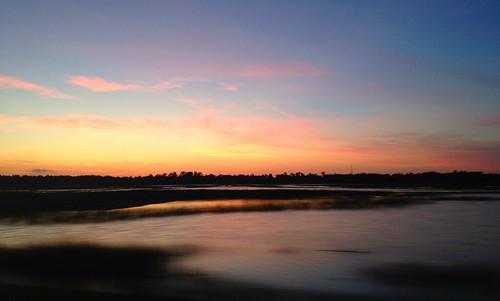 sunset marsh savannah
