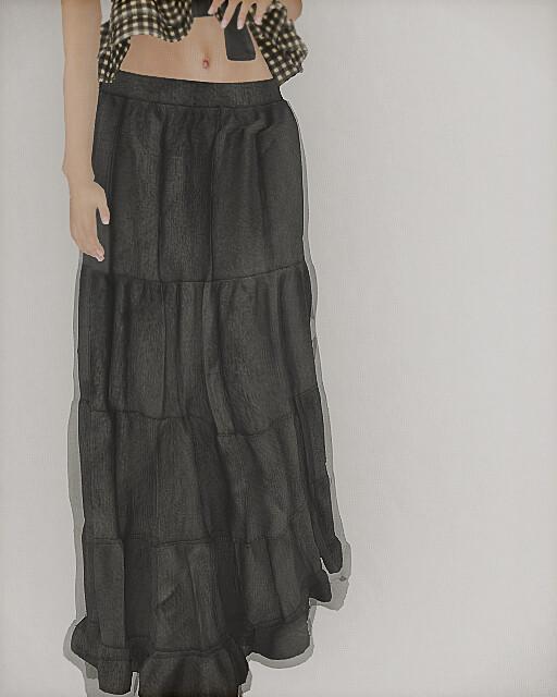 tram -linen skirt(Mesh)